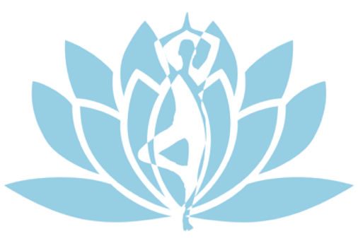Sense of Skin logo which is a figure in a tree pose positioned in front of lotus.